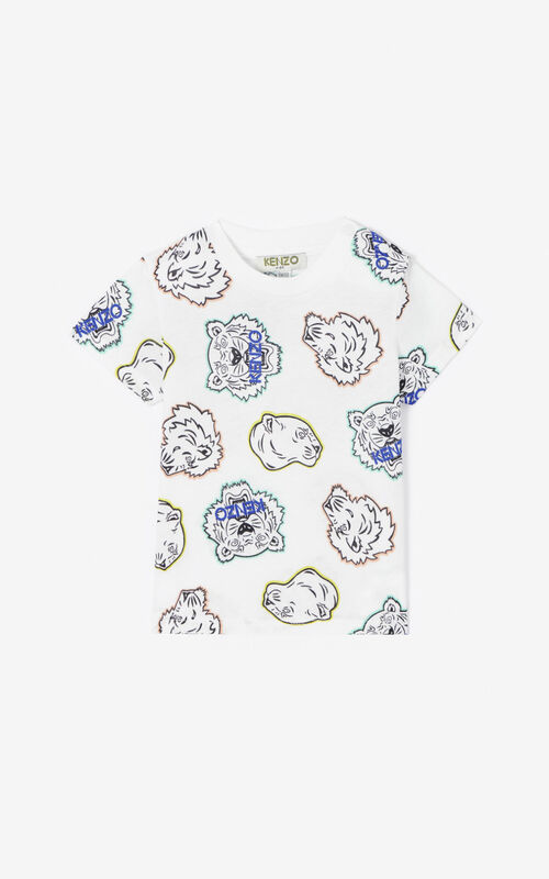WHITE Multi-icon T-shirt for women KENZO