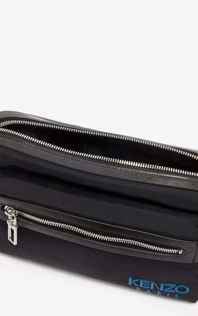 BLACK KENZO Paris belt bag for unisex