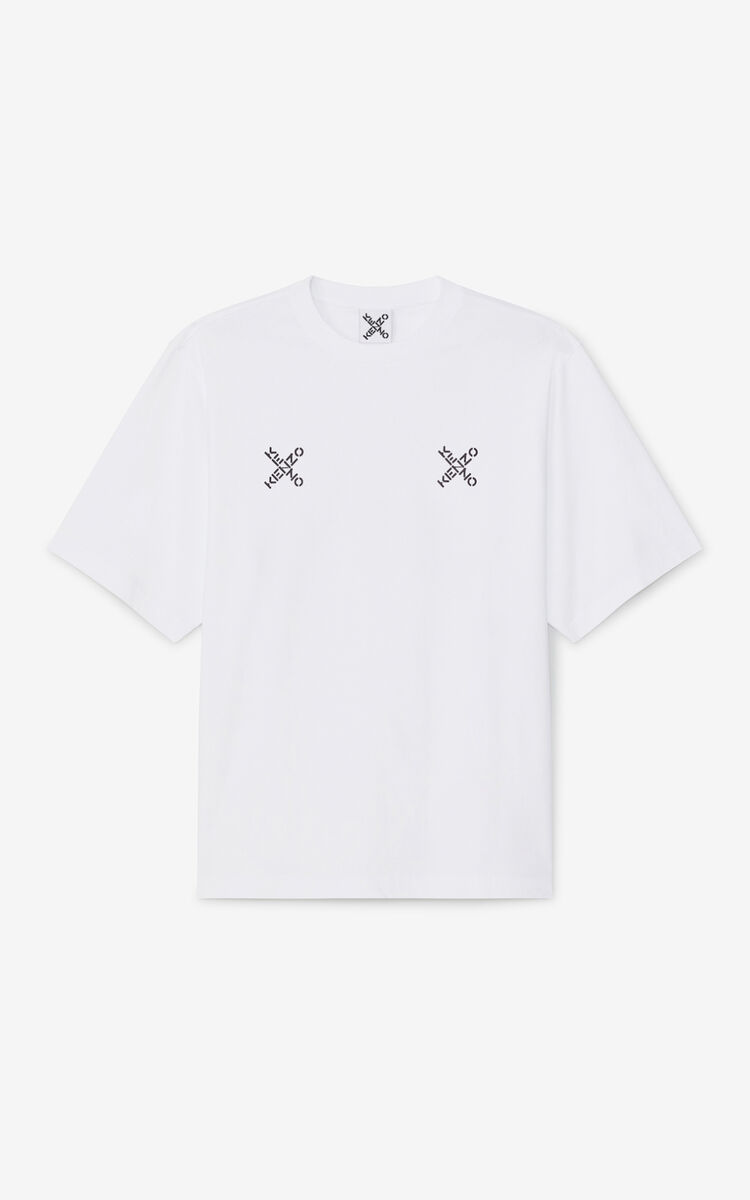 WHITE Oversized KENZO Sport 'Triple X' t-shirt for men