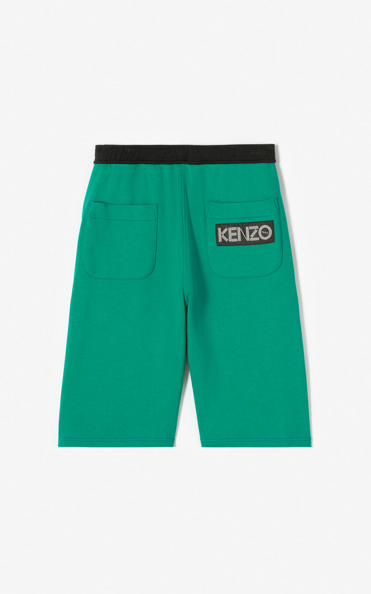 FRENCH BLUE KENZO logo colorblock shorts for men
