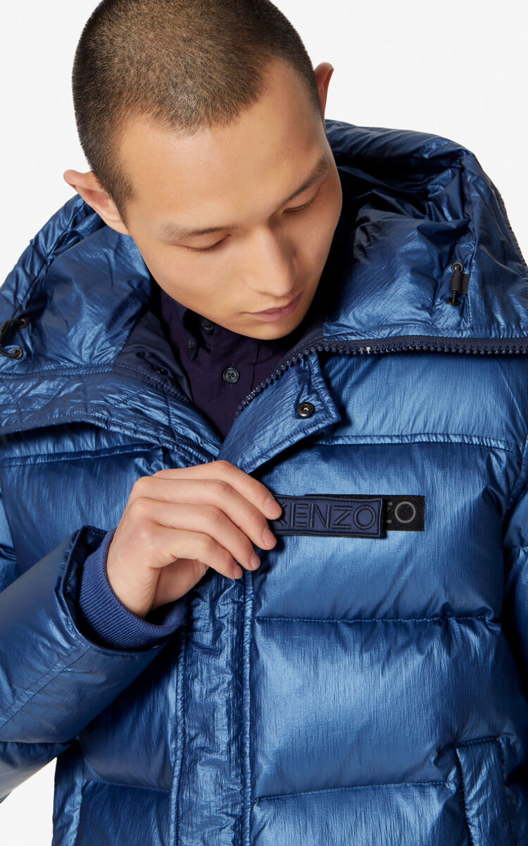 FRENCH BLUE Quilted puffer jacket for women KENZO