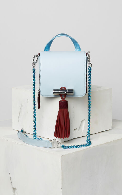 SKY BLUE Mini Sailor bag in leather for women KENZO