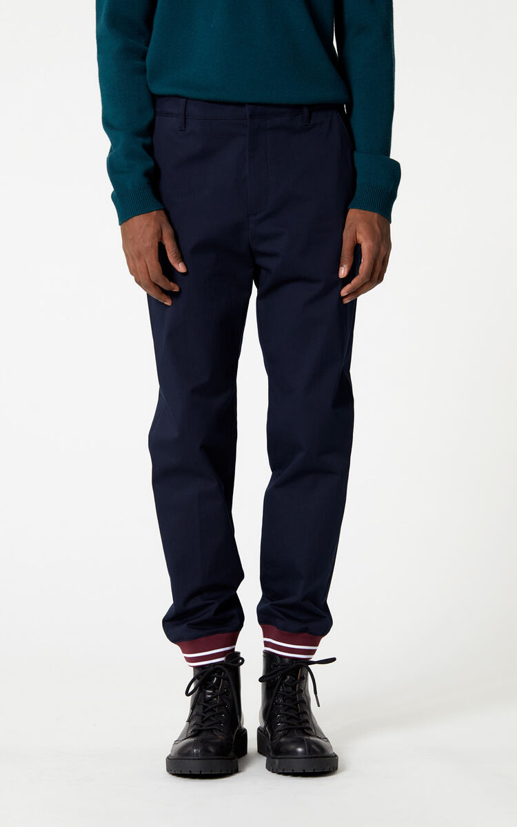 NAVY BLUE Jog pant with rib for women KENZO