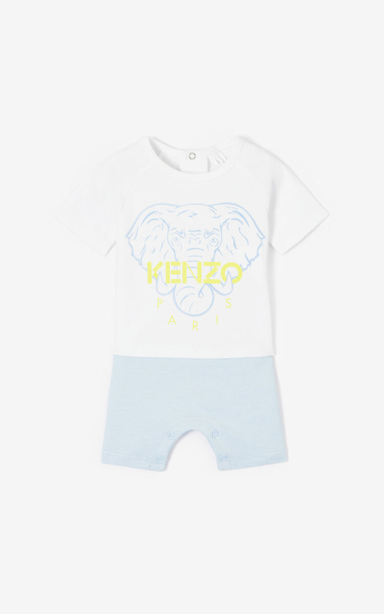 WHITE 'Disco Jungle' playsuit for women KENZO