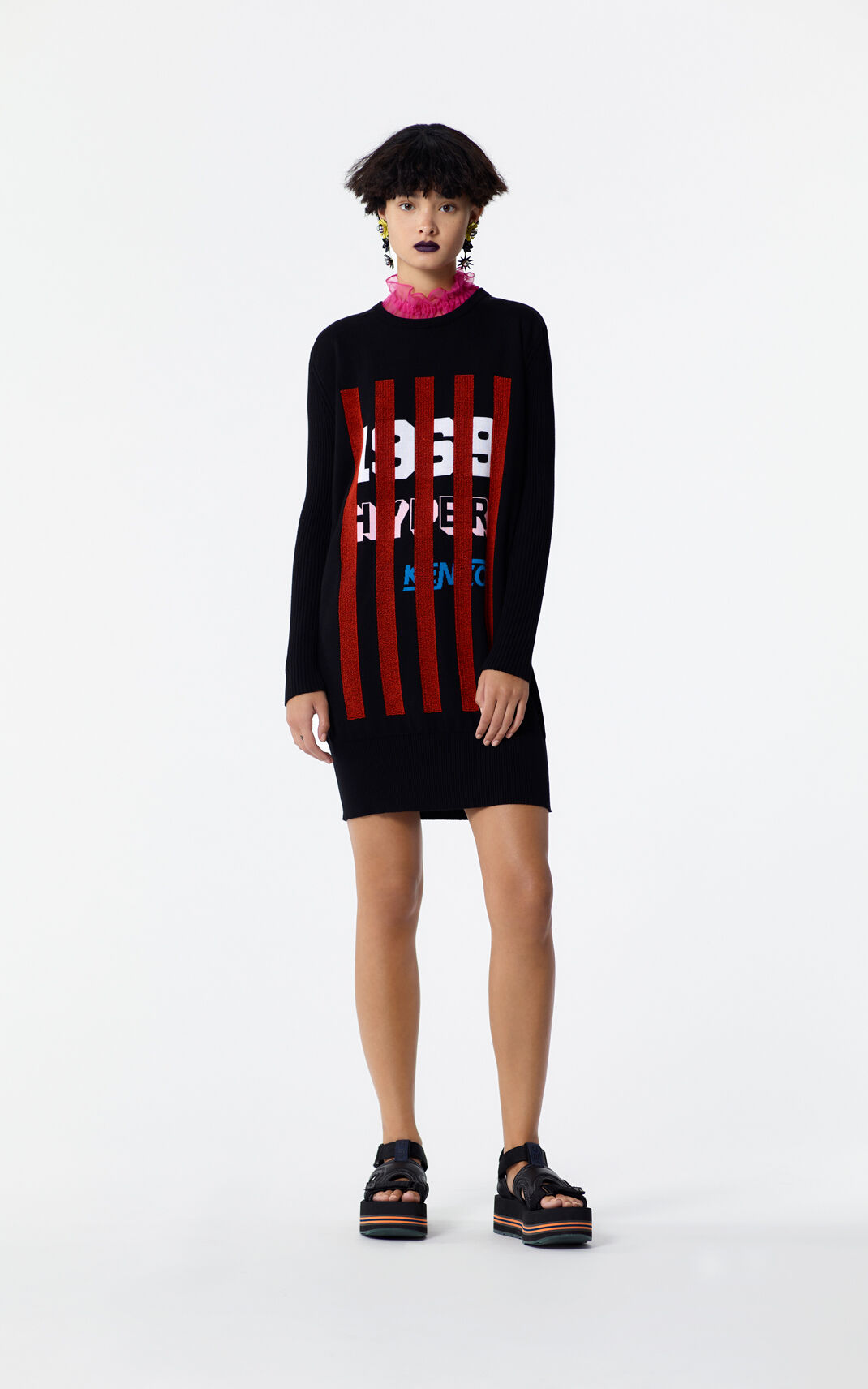 BLACK 'Hyper KENZO' Sweater dress for women