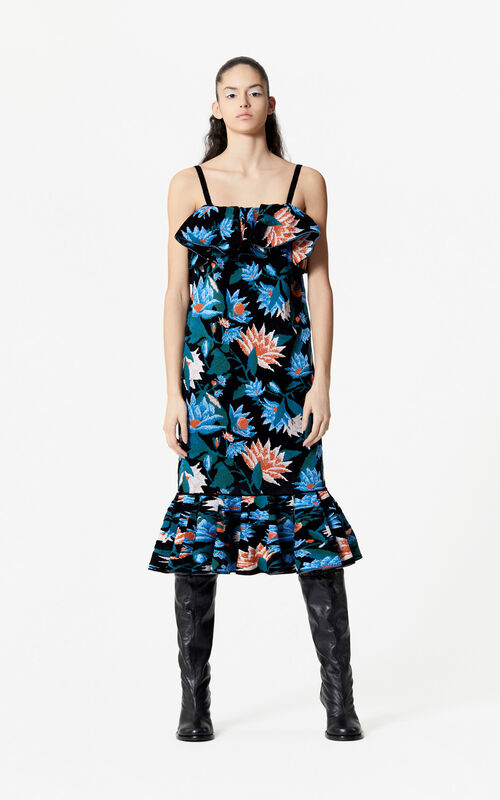 MULTICOLOR 'Floral Jacquard' strappy dress for women KENZO