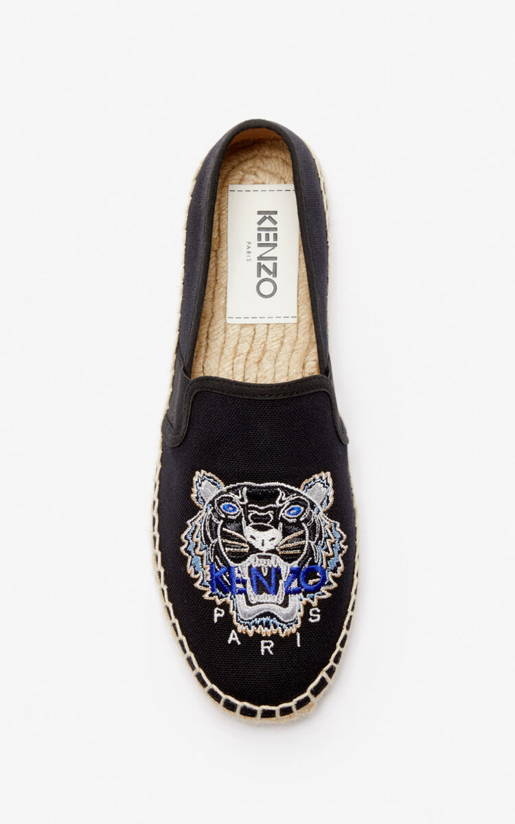 BLACK Elasticated Tiger espadrilles   for unisex KENZO