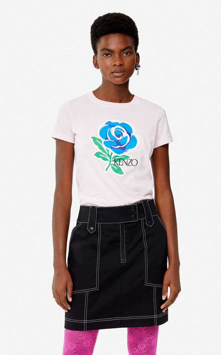 PASTEL PINK 'Roses' T-shirt for women KENZO