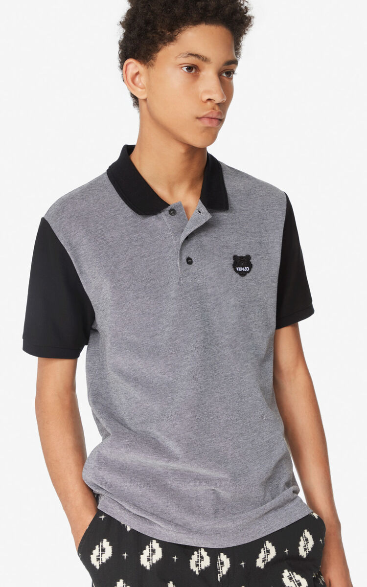 BLACK Fitted Tiger polo shirt for women KENZO