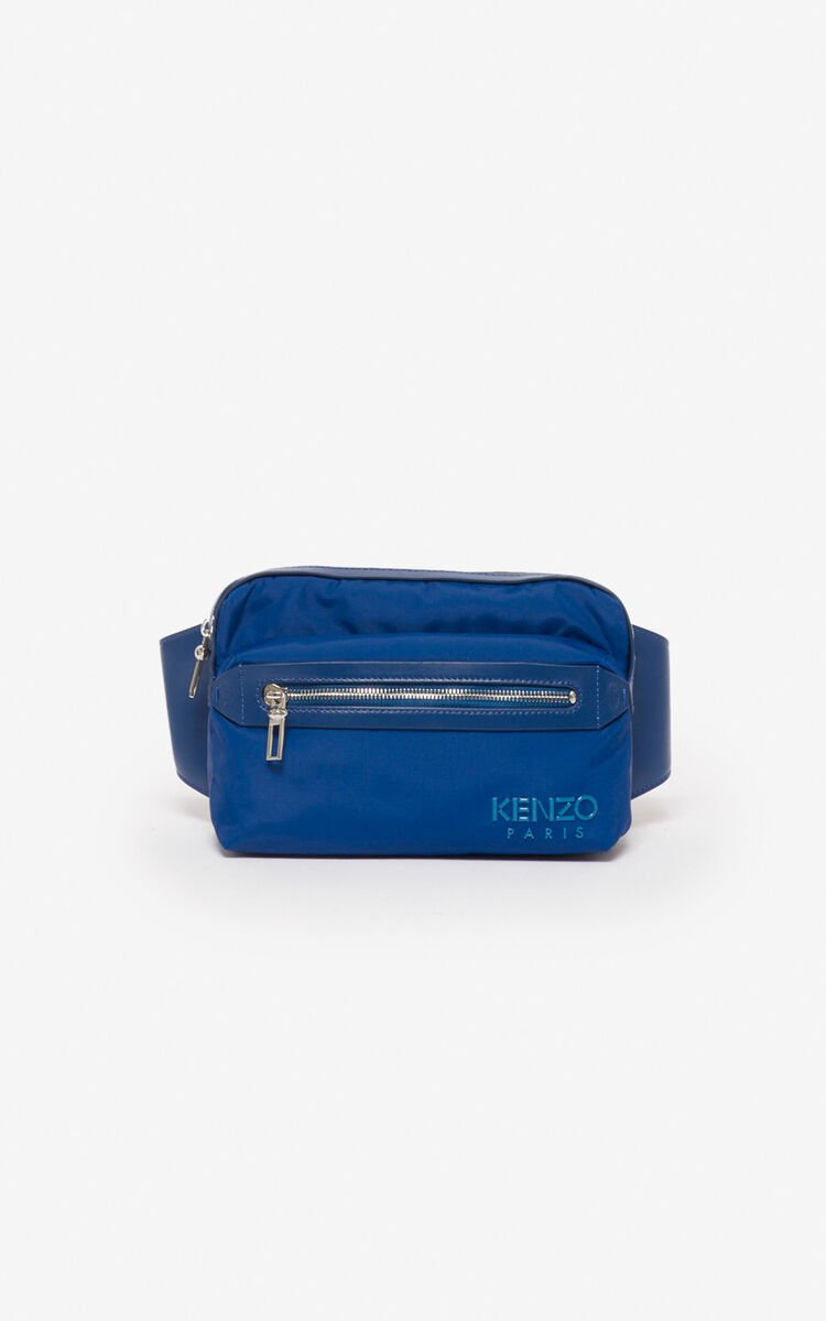 NAVY BLUE KENZO Paris belt bag  for unisex