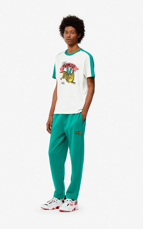 GRASS GREEN 'Jumping Tiger' jogging trousers for men KENZO