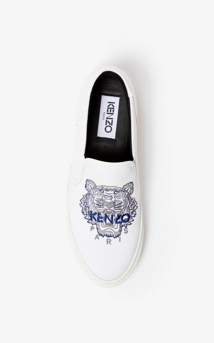 WHITE K-Skate Tiger slip-ons for women KENZO