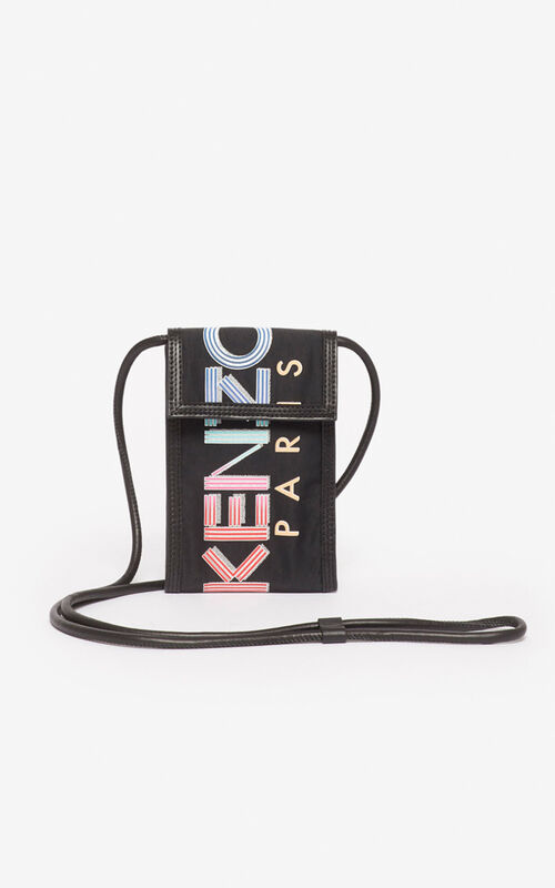 BLACK KENZO logo phone case for unisex