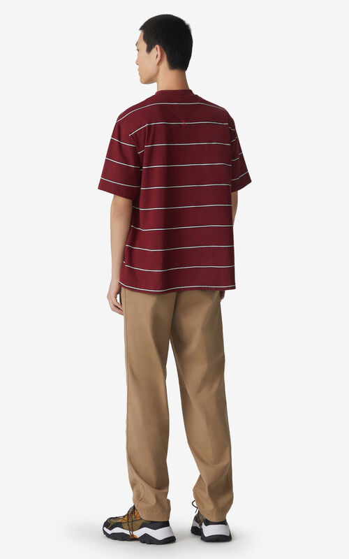 MAGENTA Striped oversize T-shirt for men KENZO