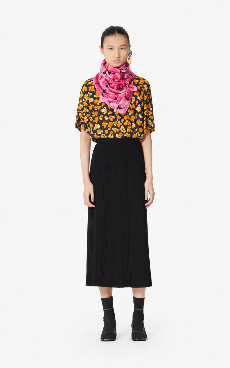 BLACK Knit midi skirt for women KENZO