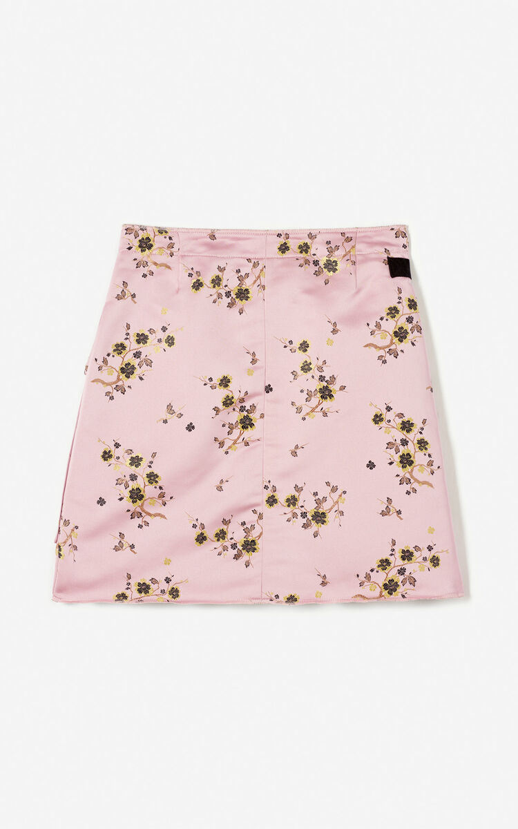PASTEL PINK 'Cheongsam Flower' wrap skirt for women KENZO
