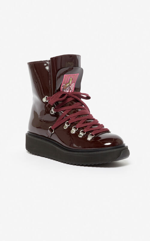 BORDEAUX 'Capsule Expedition' Alaska boots for unisex KENZO