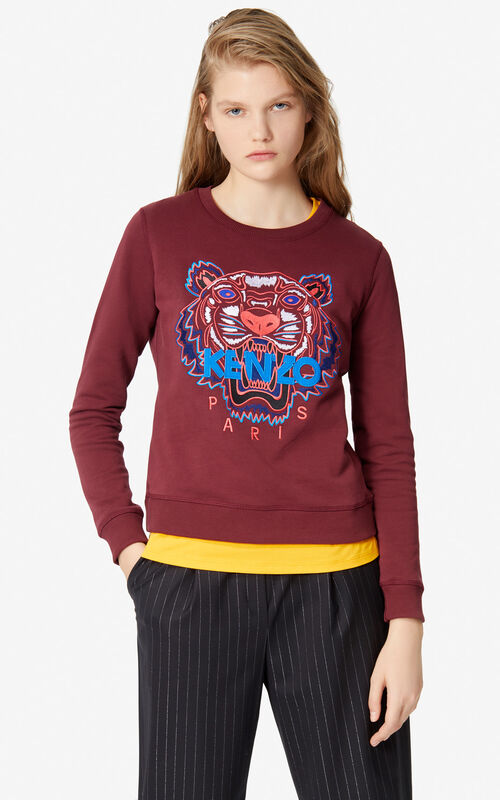 BORDEAUX Tiger sweatshirt for women KENZO