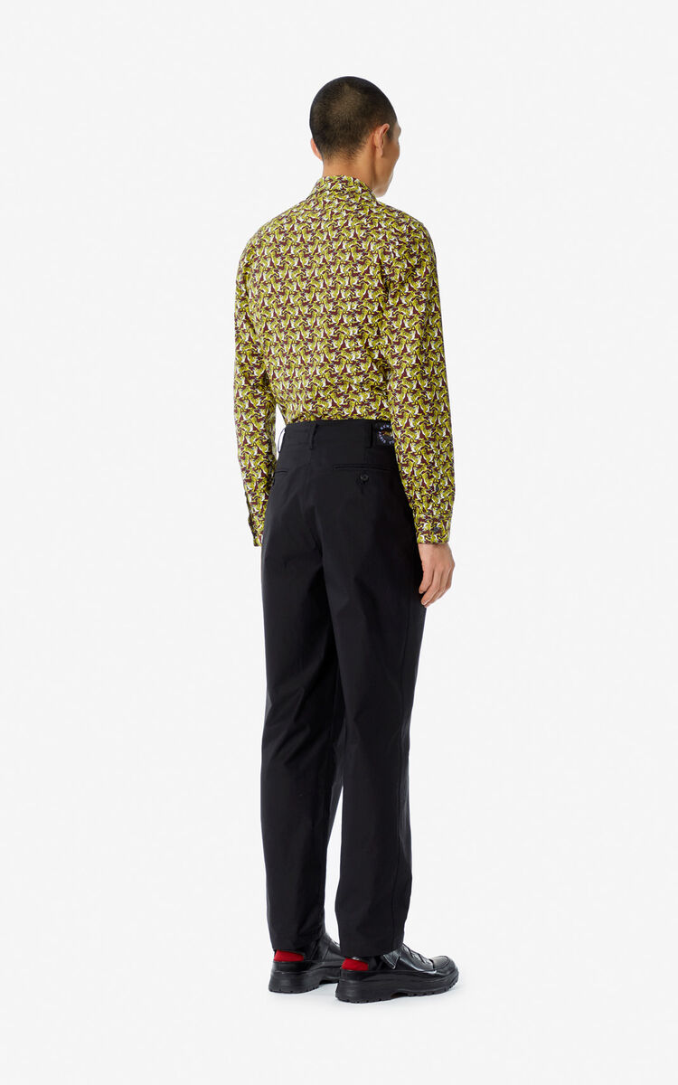 BLACK Straight-cut trousers for global.none KENZO