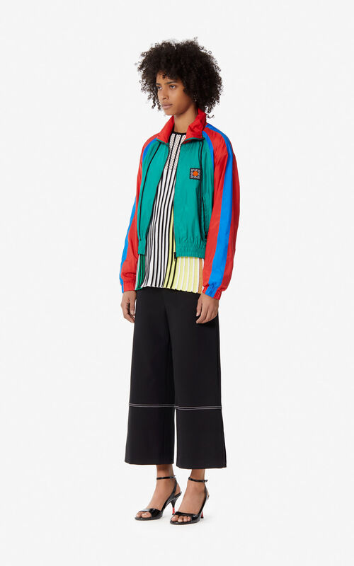 GRASS GREEN 'Square Logo' windbreaker jacket for women KENZO