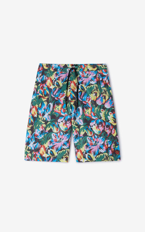 BLACK 'Tulipes' swimming shorts KENZO