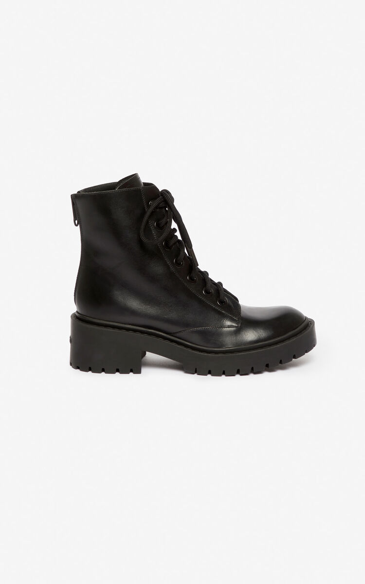 BLACK Pike Boots for unisex KENZO