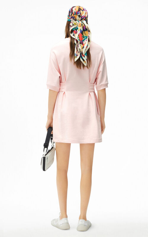 FADED PINK Tiger Crest fitted sweatshirt dress for women KENZO