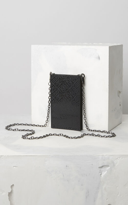BLACK Phone Holder on Chain for women KENZO