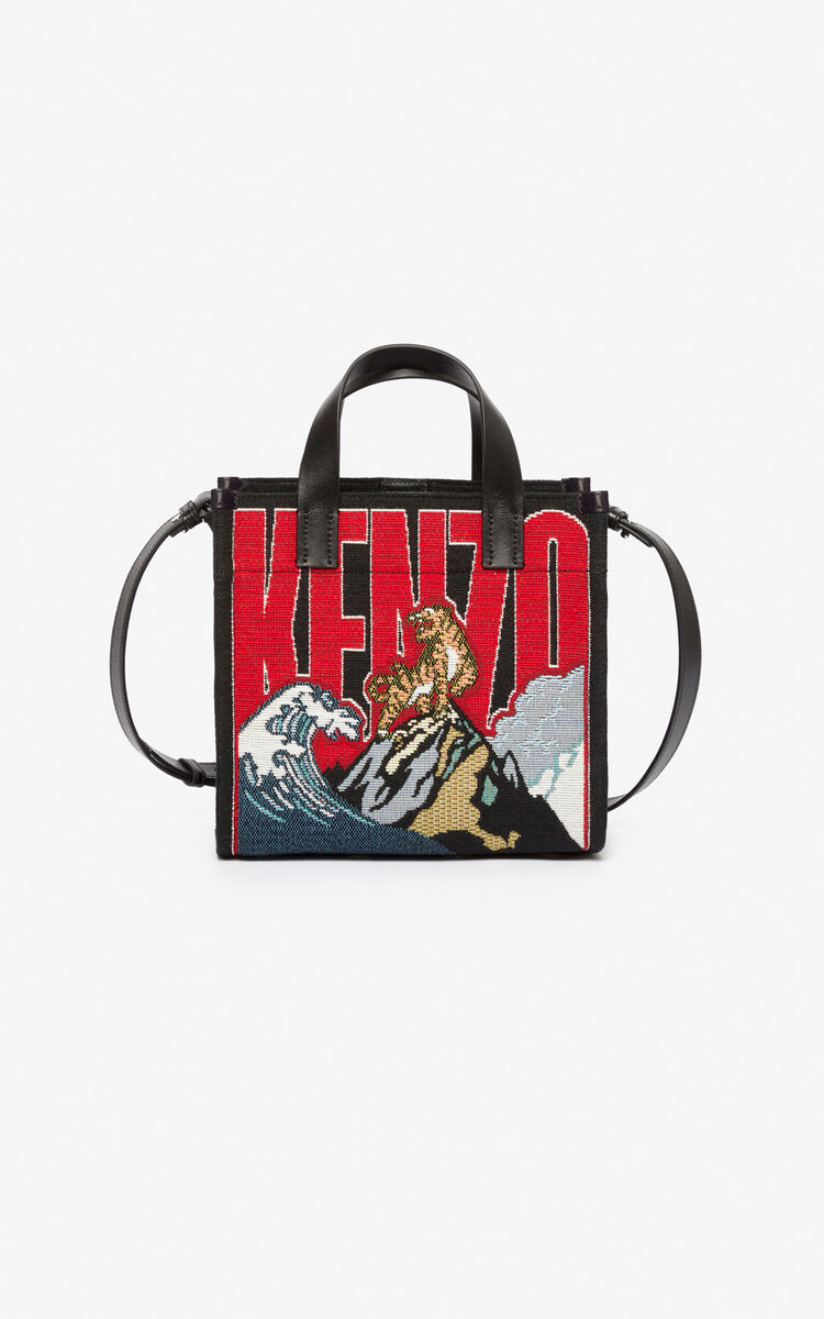 MULTICOLOR Jungle 'Tiger Mountain' small tote bag for unisex KENZO