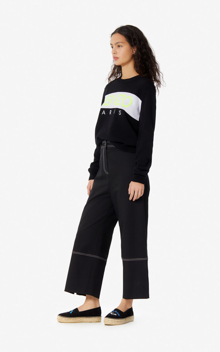 BLACK KENZO Paris jumper for women