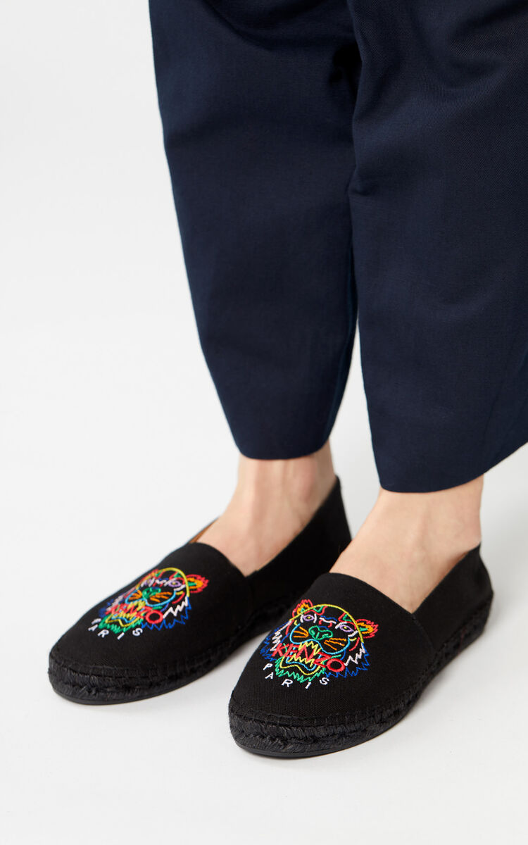 BLACK 'High Summer Capsule Collection' Tiger Espadrilles for women KENZO