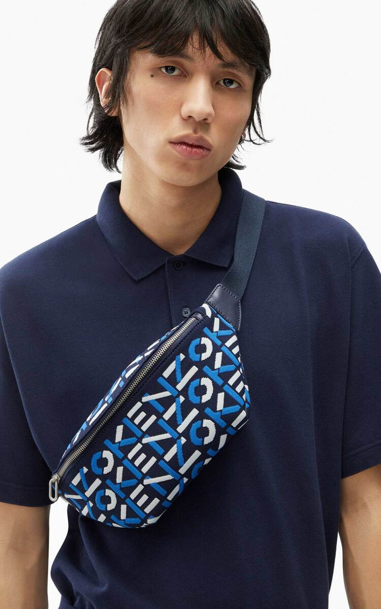 MIDNIGHT BLUE Skuba monogrammed bumbag      for unisex KENZO