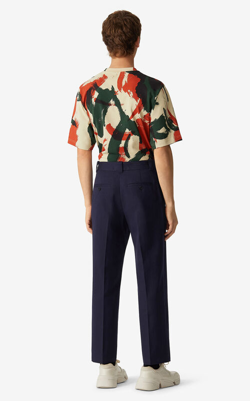 NAVY BLUE K cropped trousers for men KENZO