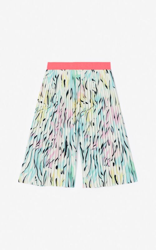 WHITE 'Cali party' Culotte pants for unisex KENZO