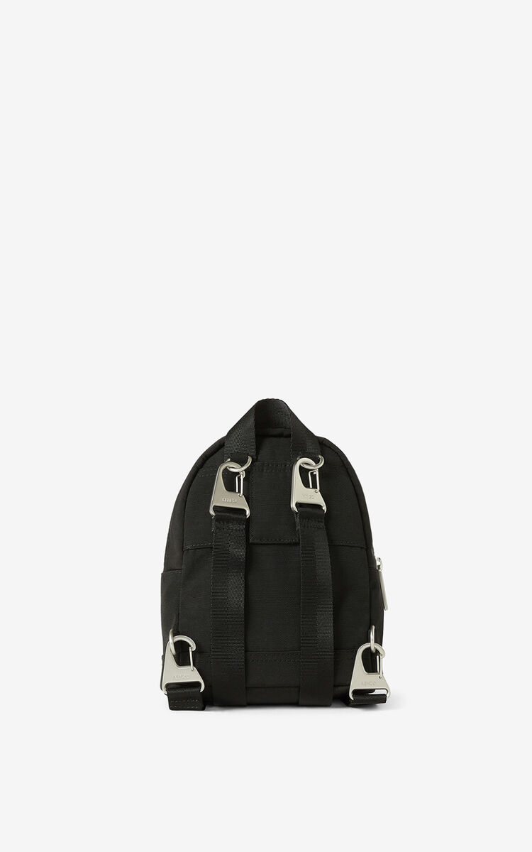 BLACK Mini canvas Kampus Tiger backpack  for unisex KENZO