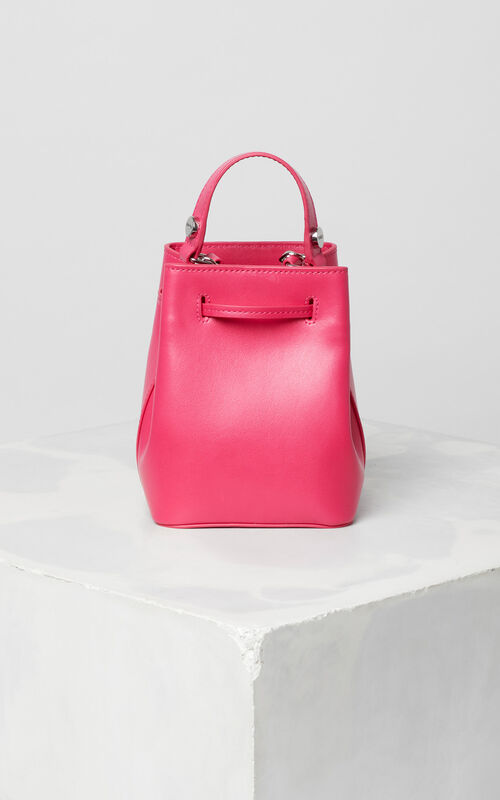 DEEP FUSCHIA Eye leather bucket bag for unisex KENZO