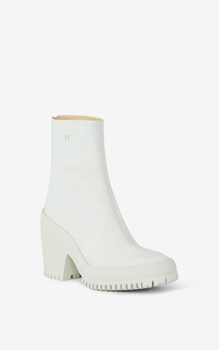 OFF WHITE KENZO Trek high-heeled leather boots for unisex