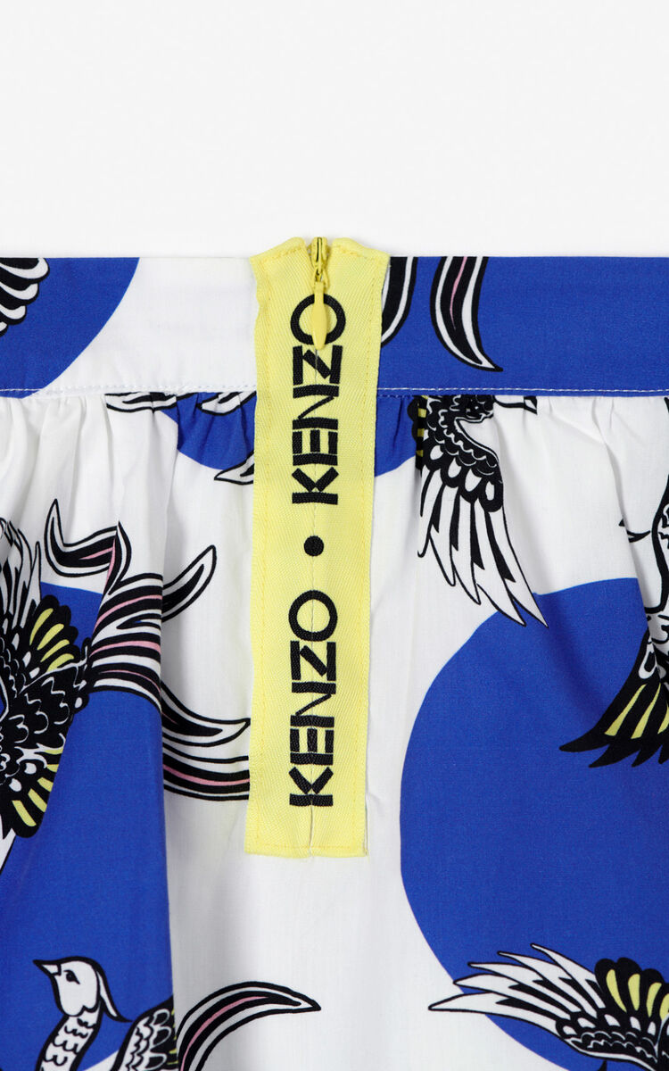 WHITE 'Phoenix Celebration' skirt for men KENZO