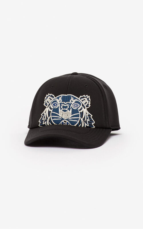 BLACK Tiger neoprene baseball cap for unisex KENZO