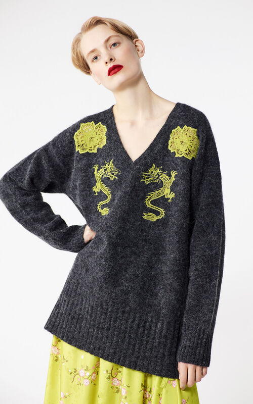 ANTHRACITE Aalpaca jumper for women KENZO