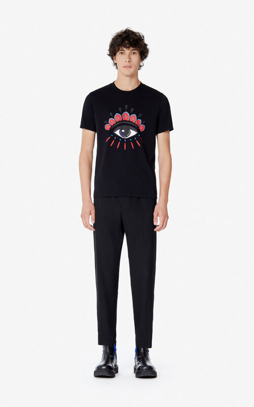 BLACK 'Holiday Capsule' Eye T-shirt for men KENZO