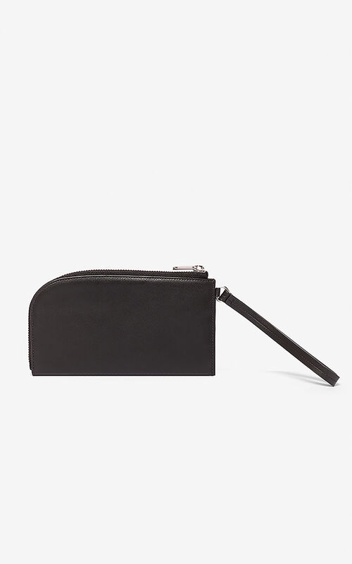 BLACK Slim Zip Wallet Kandy for unisex KENZO
