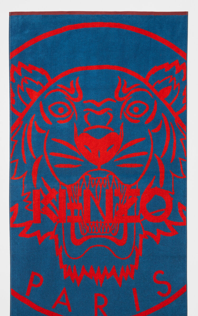 PERRIWINKLE Tiger beach towel for men KENZO