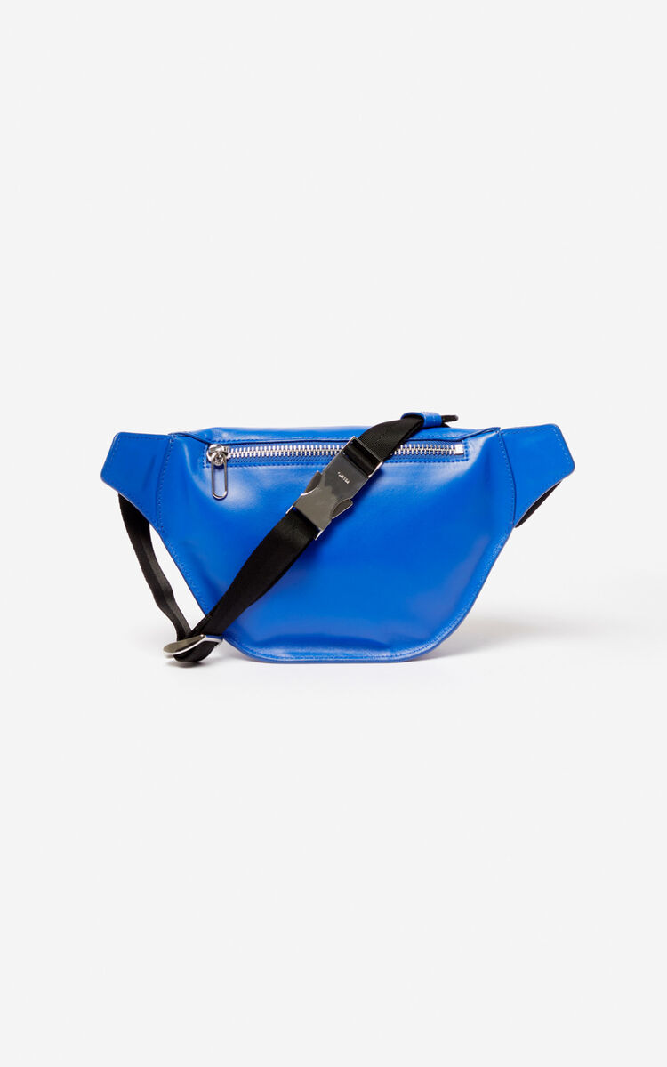 COBALT KENZO logo leather bumbag for unisex