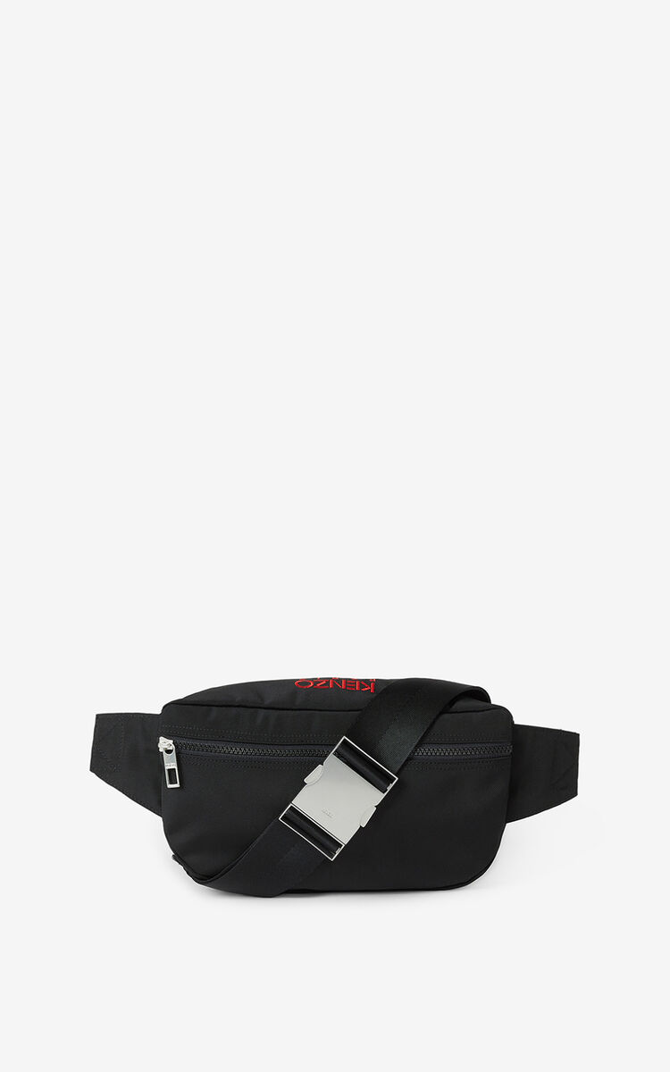 BLACK  Tiger belt bag for men KENZO