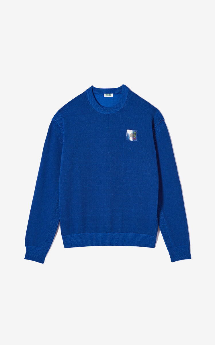 FRENCH BLUE 'Square Logo' jumper for women KENZO