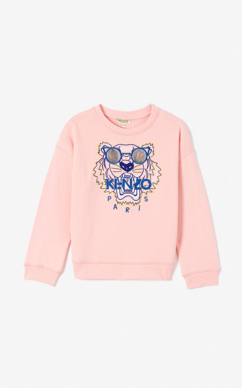 FLAMINGO PINK 'Wax' Tiger sweatshirt for women KENZO