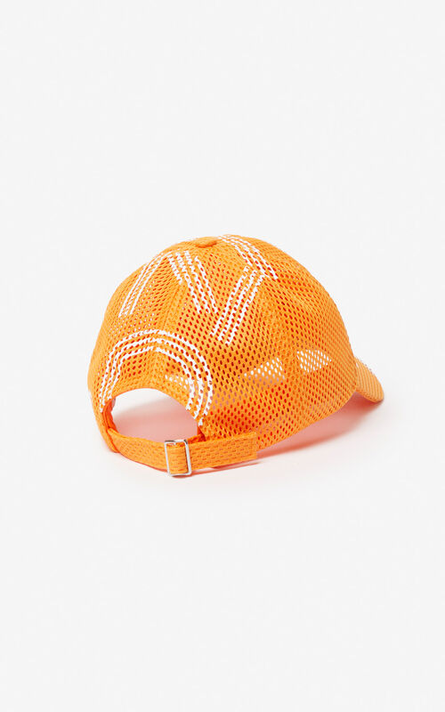 MEDIUM ORANGE KENZO mesh logo cap for unisex