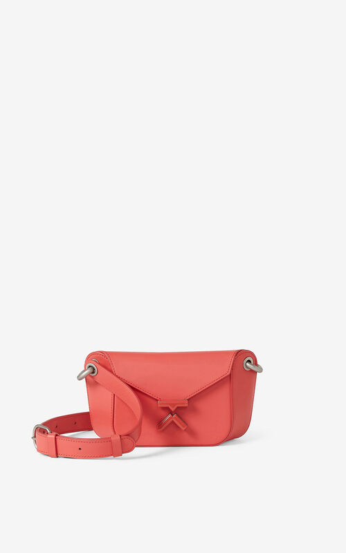 PEACH KENZO K leather belt bag for unisex
