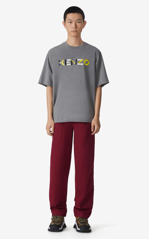 DOVE GREY Oversized KENZO Logo t-shirt for men